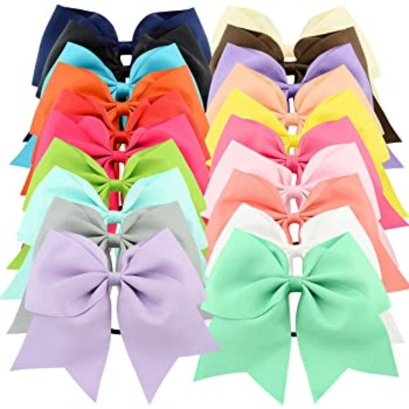 "Other - 20pcs 8"" Grosgrain Ribbon Large Cheer Hair Bow Tie"